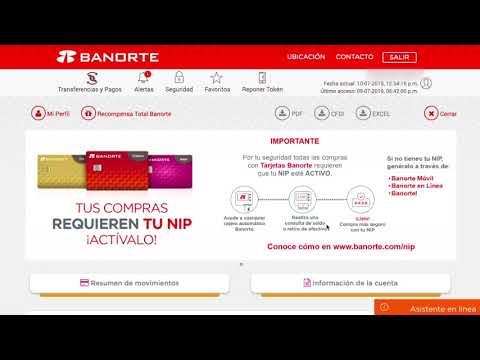 Descargar estado de cuenta en Banorte desde el navegador